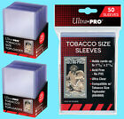 50 ULTRA PRO TOBACCO SIZE CARD TOPLOADERS & SLEEVES Trading Sport Allen Ginter