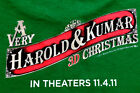 Dbl SIded A very Harold and Kumar Christmas Tshirt L Used