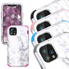 Hybrid Rugged Granite Marble Protective Hard Cover Case Cute For iPhone 7 8 Plus