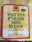 WHAT YOUR 4TH GRADER NEEDS TO KNOW ED HIRSCH JR