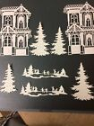 Victorian house die cut for scrapbook or card making 8 pieces