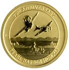 2016-P $15 Pearl Harbor Perth Mint 1/10 oz. .9999 Gold Coin
