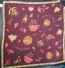 Womens APRIL CORNELL Burgundy Paris Tea Cup Rayon Scarf