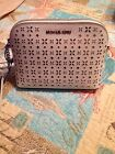 Michaael  Kors Cindy Large Dome Cross Body White Perforated leather w/Silver NWT