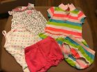 Baby Girl Clothes Size 6 Months Lot Of 5 Total Pcs 3 Outfits