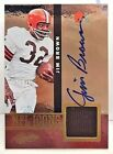 Jim Brown 2012 Absolute NFL Icons GU Jersey on-card Autograph Auto #'d 46 49