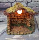 Retired FONTANINI Lighted Nativity Stable Only 2 1 2 scale 50161
