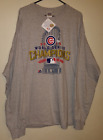 NEW MLB Chicago Cubs 2016 World Series Champions Men's Long Sleeve Shirt Size 2X