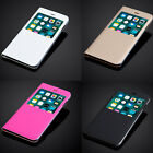 Ultra Slim Window View Case Cover + Screen Guard For Apple IPhone 5 6 7 8