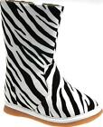 Toddler size 3 zebra boots NEW squeaky shoes