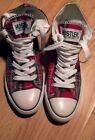 Womans plaid sneakers shoes size 7 preowned