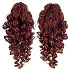 SWACC 12-Inch Short Screw Curls Claw Clip Ponytail Extensions Synthetic Clip in