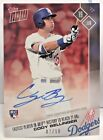 Cody Bellinger 2017 Topps Now Rookie #270 RED on-card Autograph Auto RC #'d 7 10