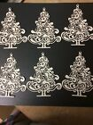 Christmas tree 2 die cuts for cards or scrapbook 6 pieces