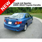 Toyota Corolla 09 13 Trunk Spoiler Painted Clear CLASSIC SILVER METALLIC 1F7