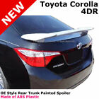 For 14 17 Toyota Corolla 4Dr Painted Trunk Spoiler CLASSIC SILVER METALLIC 1F7