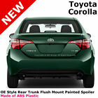For 14+ Toyota Corolla Painted Rear Trunk Spoiler CLASSIC SILVER METALLIC 1F7