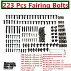 223X BLACK MOTORCYCLE SPORTBIKE FAIRING BOLTS KIT FASTENER CLIPS SCREW ALUMINIUM