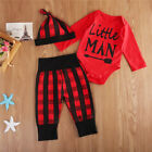 US Newborn Infant Baby Kid Boy Clothes Playsuit Romper Pants Bodysuit Outfit Set