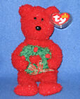 TY 2006 HOLIDAY TEDDY the BEAR BEANIE BABY - MINT with MINT TAGS