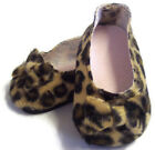 Leopard Print Bow Shoes made for 18 American Girl Doll Clothes