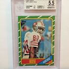 1986 Topps #161 Jerry Rice RC BGS 5.5