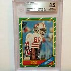1986 Topps #161 Jerry Rice RC BGS 8.5