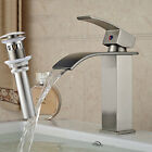 Waterfall Spout Bathroom Faucet Basin Faucets Oil Rubbed Bronze Sink Mixer Cover