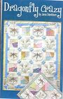 Dragonfly Crazy Embroidery and Piecing Quilt Pattern