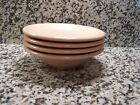 Fiesta Fiestaware Apricot Peach Set of 4 Stacking Cereal Bowls Retired Very Nice