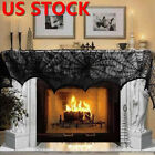Halloween Party Spider Web Lace Tablecloth Indoor Bar Decor Table Cover Black
