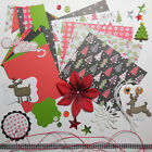 Christmas Card Making Kit Paper  Embellishments to Make 5 Holiday Cards