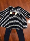 Pippa And Julie Girls Outfit Size 2t Navy Cream