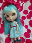 HTF COLOR HOP House of Pinku Blythe Doll Dress - Turquoise and Red - CUTE!
