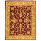 Antiquity Hand-Tufted RED/GOLD Wool Area Rug 7' 6 x 9' 6
