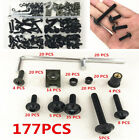 177 Pcs Motorcycle Bodywork Bumper Panel Fairing Bolts Kit Fastener Clips Screws