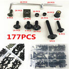 Universal 177 Pcs Fairing Bolt Kit Bodywork Panel Screws Fastener Clips Washers