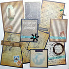 Pre Made Scrapbook Photo Mats Vacation Travel Journey 19 pc with Embellishments