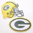 Green Bay Packers NFL ogo and Helmet Set Patch Iron on FREE SHIPPING ONE DA