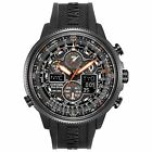 Citizen Eco Drive Navihawk A-T Black Dial Black Rubber Men's Watch JY8035-04E