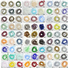 Wholesale 100pcs Rondelle Faceted Crystal Glass Loose Spacer Beads 4mm 246 Color