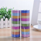 10X Glitter Washi Paper Adhesive Tape DIY Craft Sticker Masking Decor 15cmx3m W