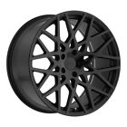 TSW Vale 17X8 5x108 Offset 40 Matte Black / Gloss Black Face (Qty of 4)