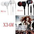 PLEXTONE X34/X38M In-Ear Earbuds Headset Heaphones Stereo Bass With Mic USA