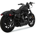 Vance  Hines Black Mini Grenades 2 Into 2 Exhaust Harley Sportster XL 04 17