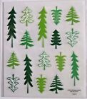 Trees Pine Evergreen Christmas Multi Shapes PS Clear Stickers