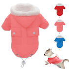 Chihuahua Puppy Dog Clothes Winter Fleece Lined Dog Hoodie Coats Snowsuit Jacket