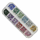 3000PCS Nall Art Rhinestone 2mm Round Diamante Gems 12colors  LW