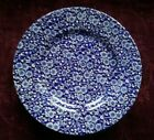 Queens CALICO BLUE Dinner Plates - Set of 5 - FREE U.S. SHIPPING