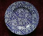 Queens CALICO BLUE Salad Plates - Set of 5 - FREE U.S.SHIPPING